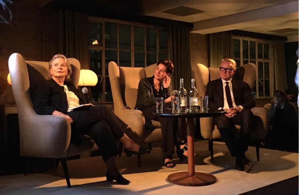 Anna Somers Cocks,Beth Greenacre, and David Roberts at Shoreditch House, London. Photo by @taniaasbaek, via Instagram.
