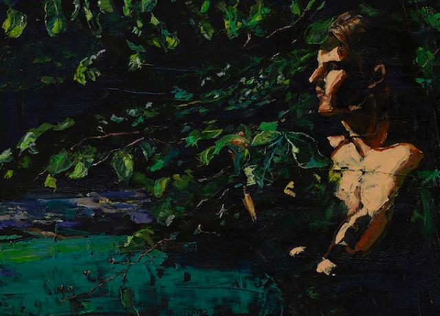 """ Feel of Leaves "" by Michelle Rogers, 2015, oil on canvas,  Jenn Singer Gallery"
