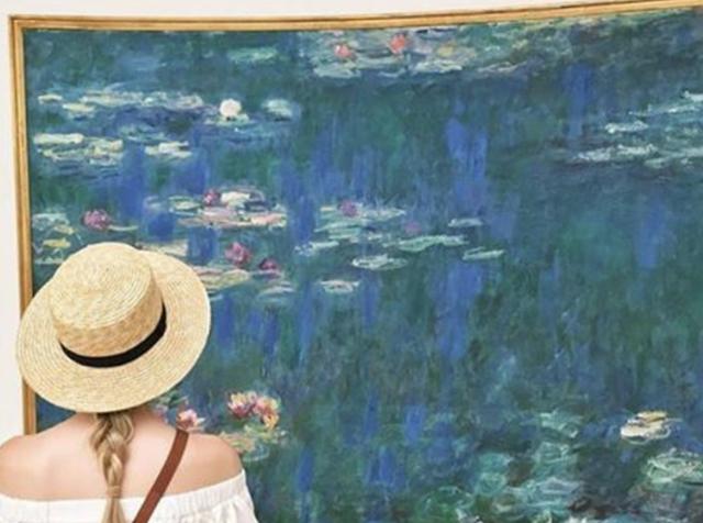 """"""" Les Nymphéas """" by Claude Monet at The Musée de l'Orangerie. Photo courtesy of The Musée de l'Orangerie via  Instagram ."""