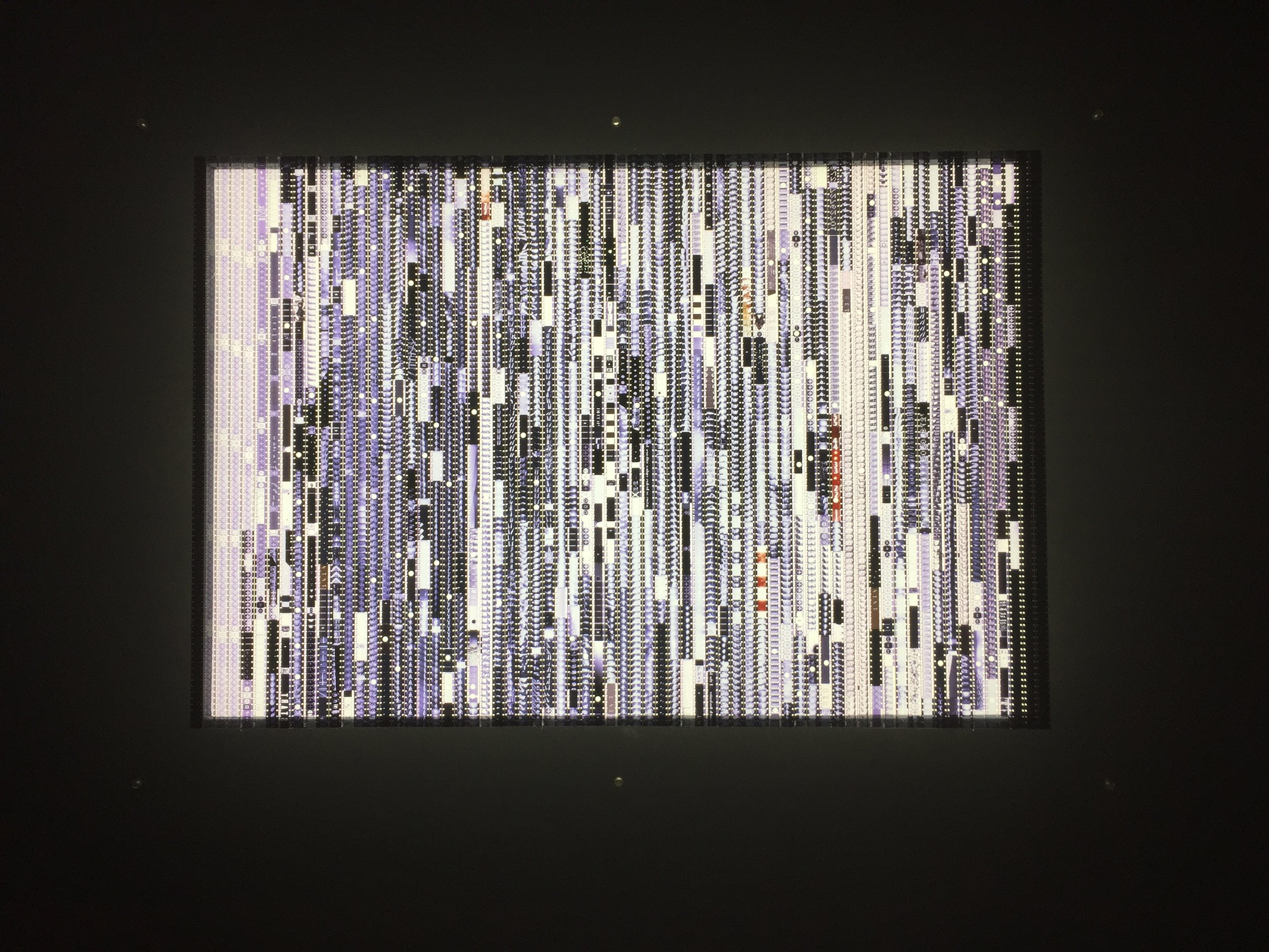 Bruce Conner. Cosmic Ray, 1961. 16 mm color filmstrips with Plexiglas.