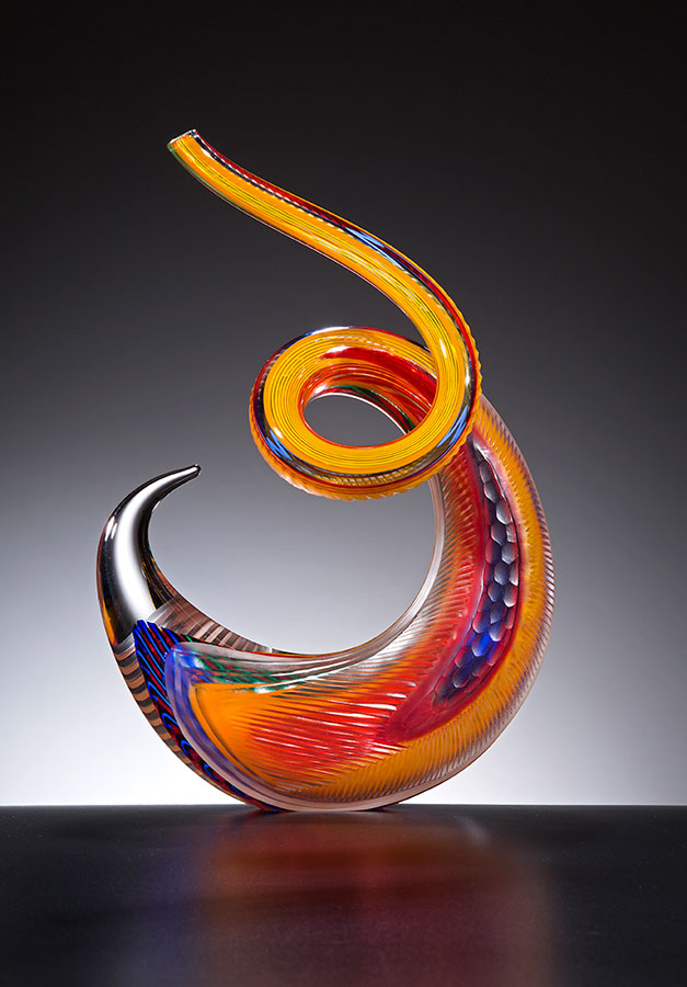 Fenice , 2016; 12.25 x 8.5 x 4.5 inches; blown glass