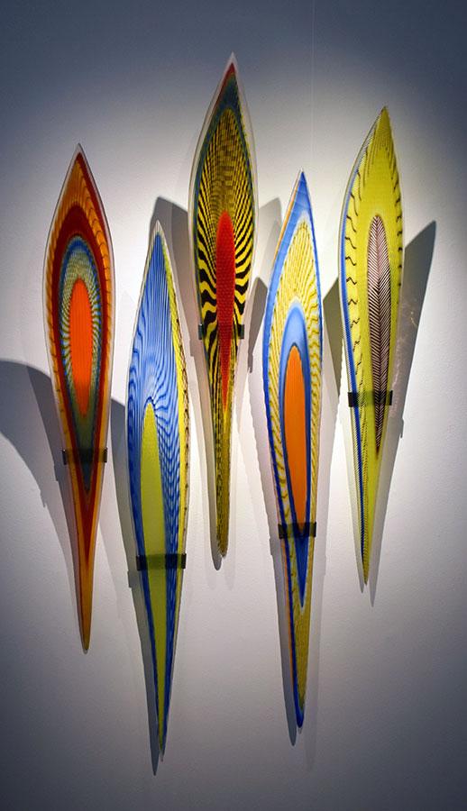 Masai  (5 piece); 71 x 36 x 16.5 inches; blown glass