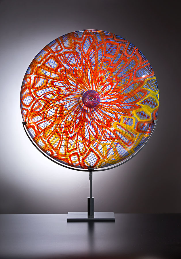 Ombelico , 2015; 23.5 x 23.5 x 10 inches; blown glass with stand