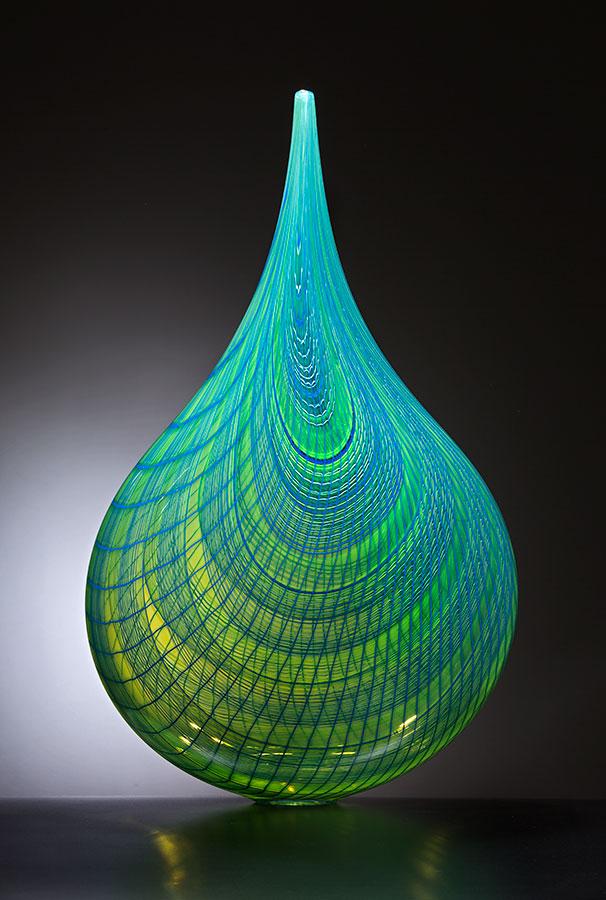 Travertino , 2016; 26.25 x 15.75 x 8.5 inches; blown glass