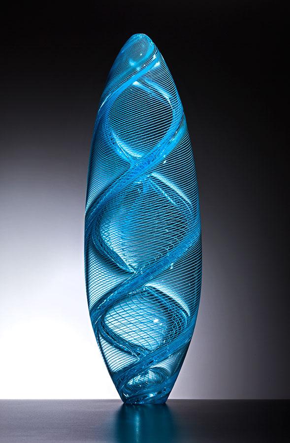 Spirale , 2016; 22 x 7.25 x 7.25 inches; blown glass