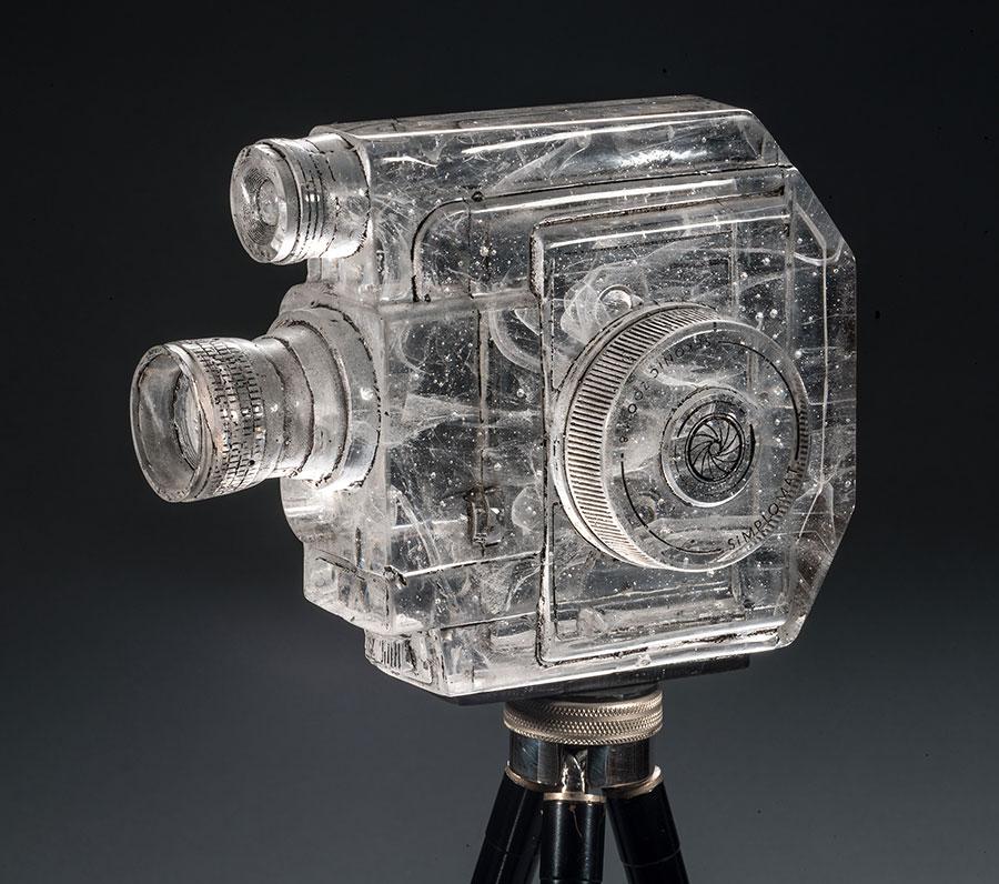 Sekonic , 2013; 6 x 3 x 7.75 inches; glass, paint, antique Kodak tripod