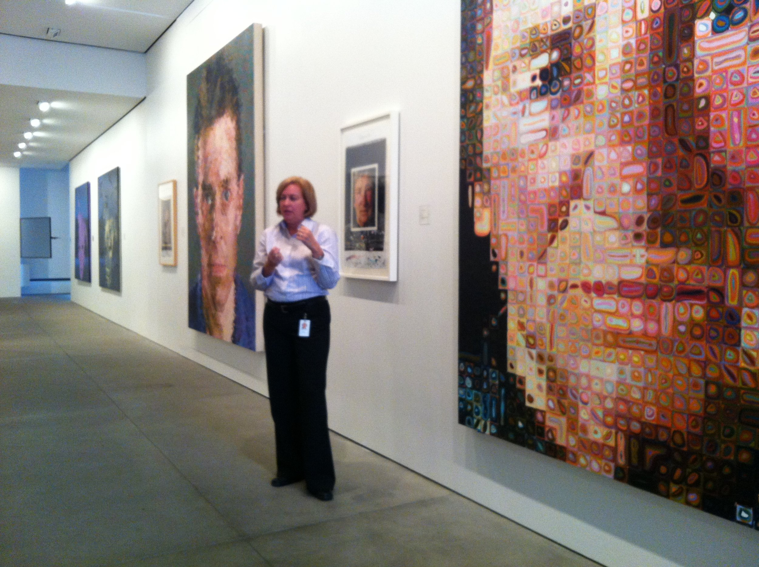 GAP Collection Curator hosting a private tour of the Fisher Art Collection
