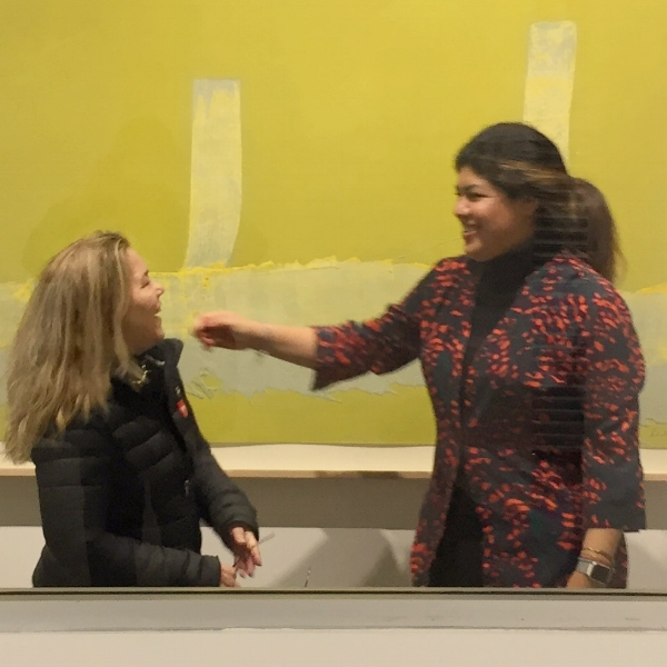 Micaela van Zwoll and Edith Mondragon, Mixografia Director and Curator.