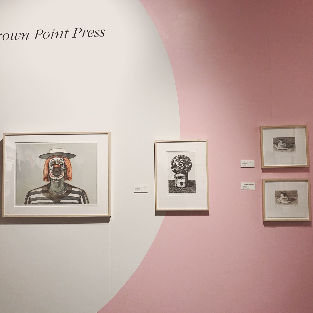 Wayne Thiebaud prints at Crown Point Press, FOG Art+Design 2018.