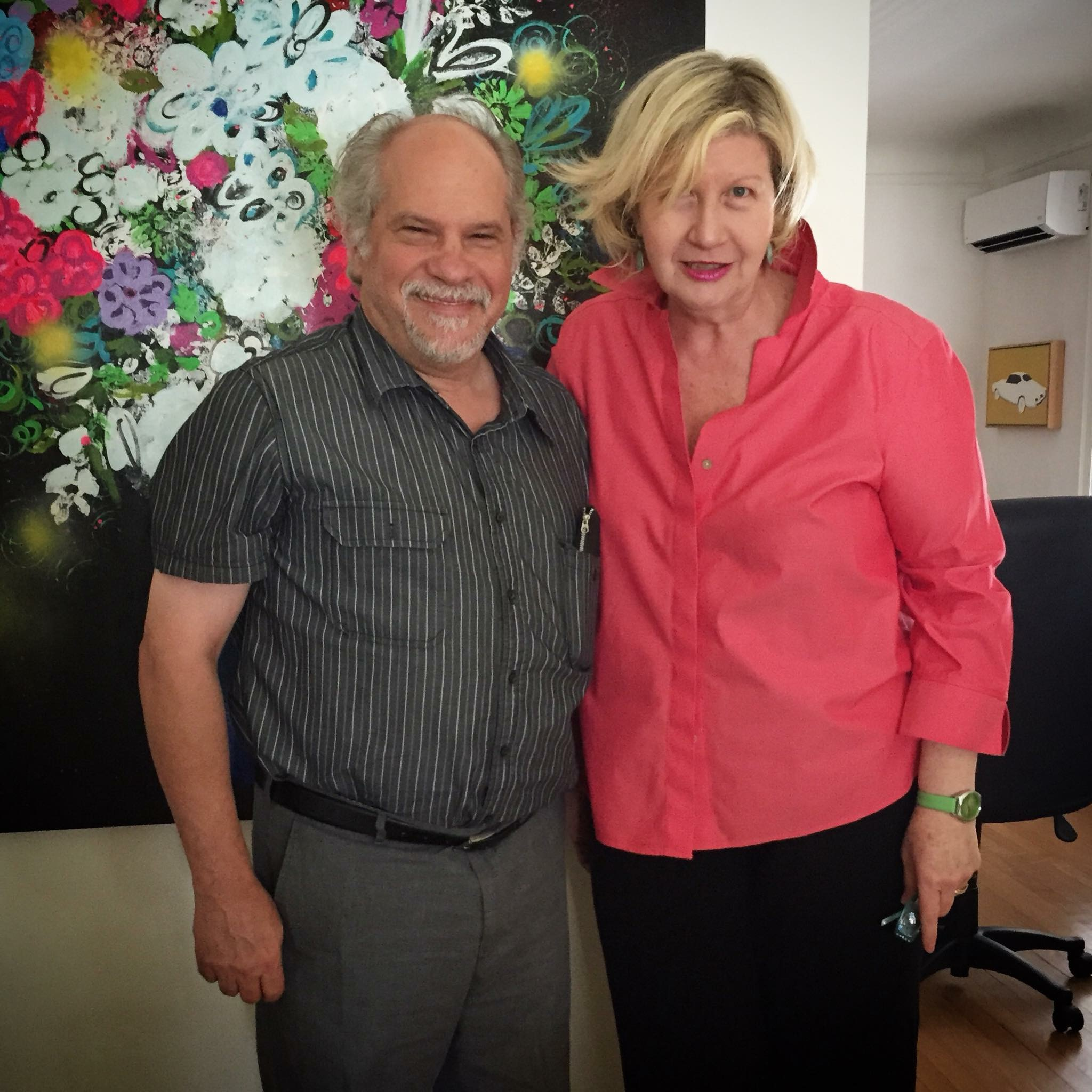 Jim Yood and Lorraine Peltz. Chicago, August 5, 2015.
