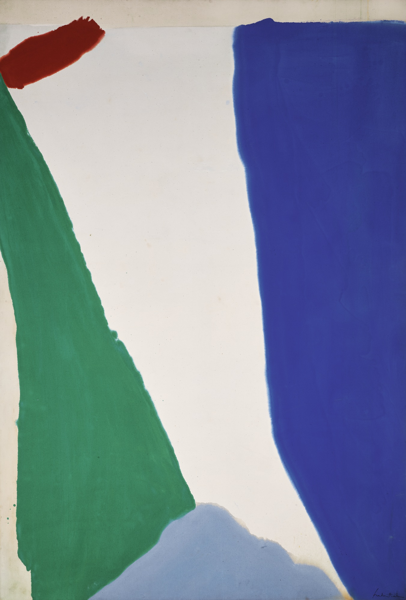 Helen Frankenthaler. Four Color Space, 1966. Auctioned at Sotheby's in 2017 for $591,000.