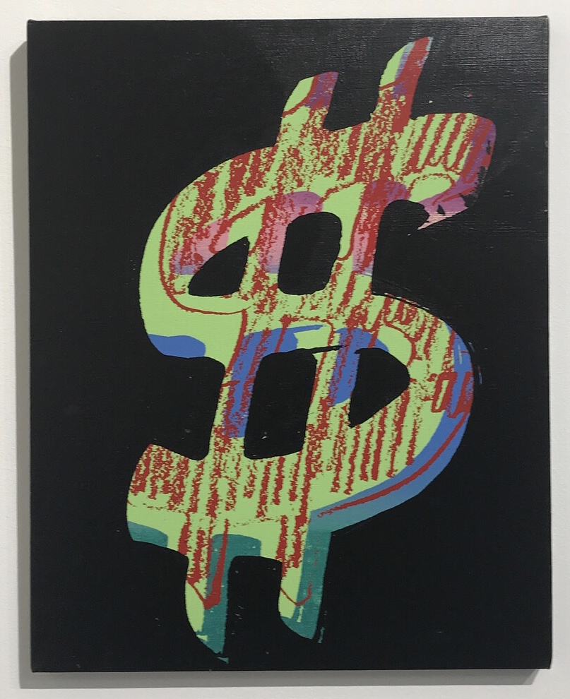 Andy Warhol (1928-1987). Dollar Sign, 1981. Stamped twice with the Andy Warhol Foundation for the Visual Arts Inc. and the Estate of Andy Warhol stamps and numbered 'PA30.023' (on the reverse), numbered again 'PA30.23' (on the stretcher). Synthetic polymer and silkscreen inks on canvas, 20 x 16 in. (50.8 x 40.6 cm). Estimated value at Christie's Morning Sale, November 2017 was $400,000-600,000. Image: Micaela van Zwoll