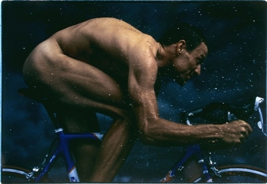 Annie Leibovitz (American, b. 1949). Lance Armstrong, New York, 1999. Chromogenic print (c-print). 12 x 17.3 in. (30.48 x 43.94 cm.). Signed, titled, dated, and numbered in ink on recto. Printed circa 2001. Edition 26/40. Artnet Auctions Lot ID 125851