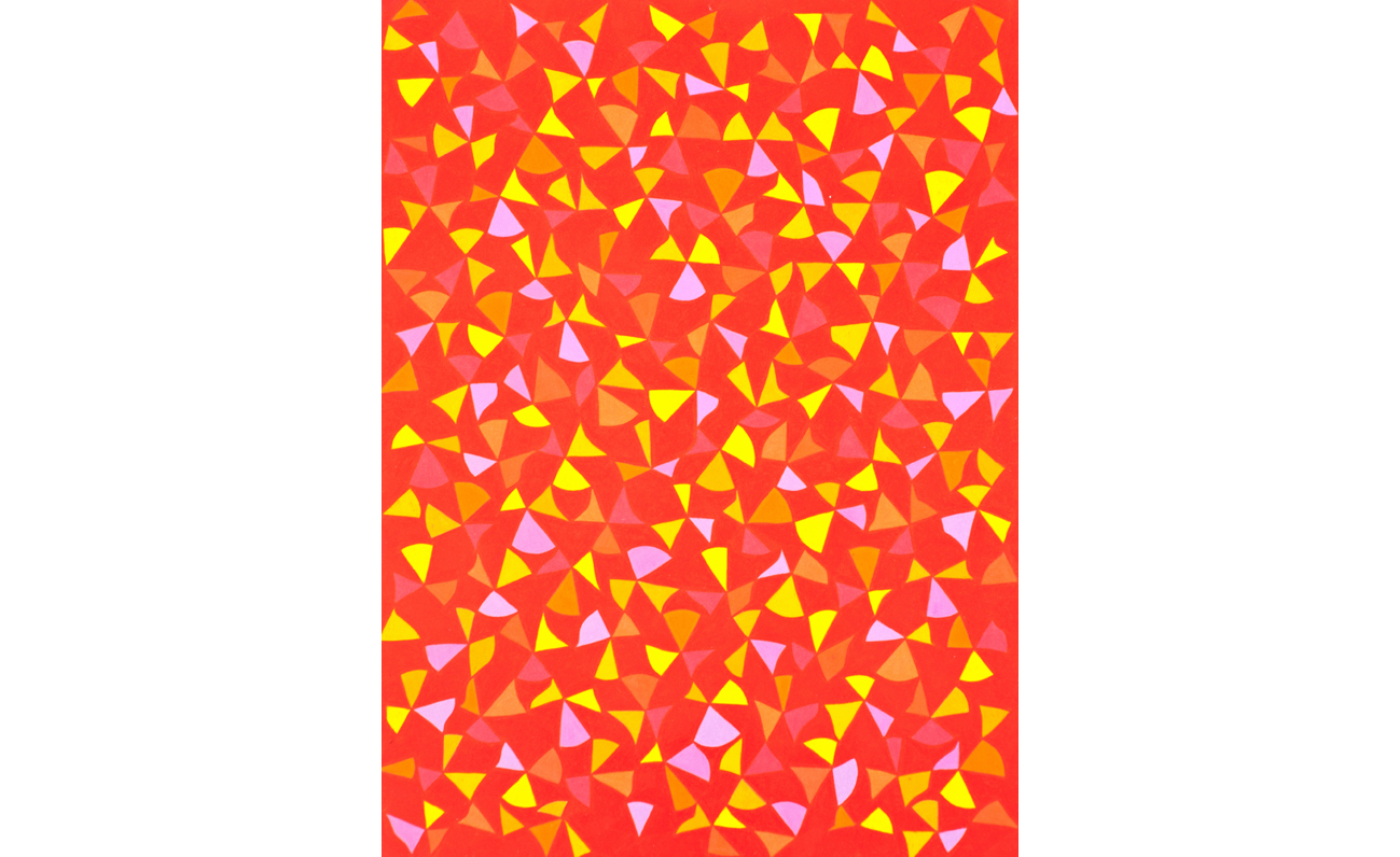 Untitled (Seirpinski Matrix), 2012, color pencil on paper, 22 x 16 in.