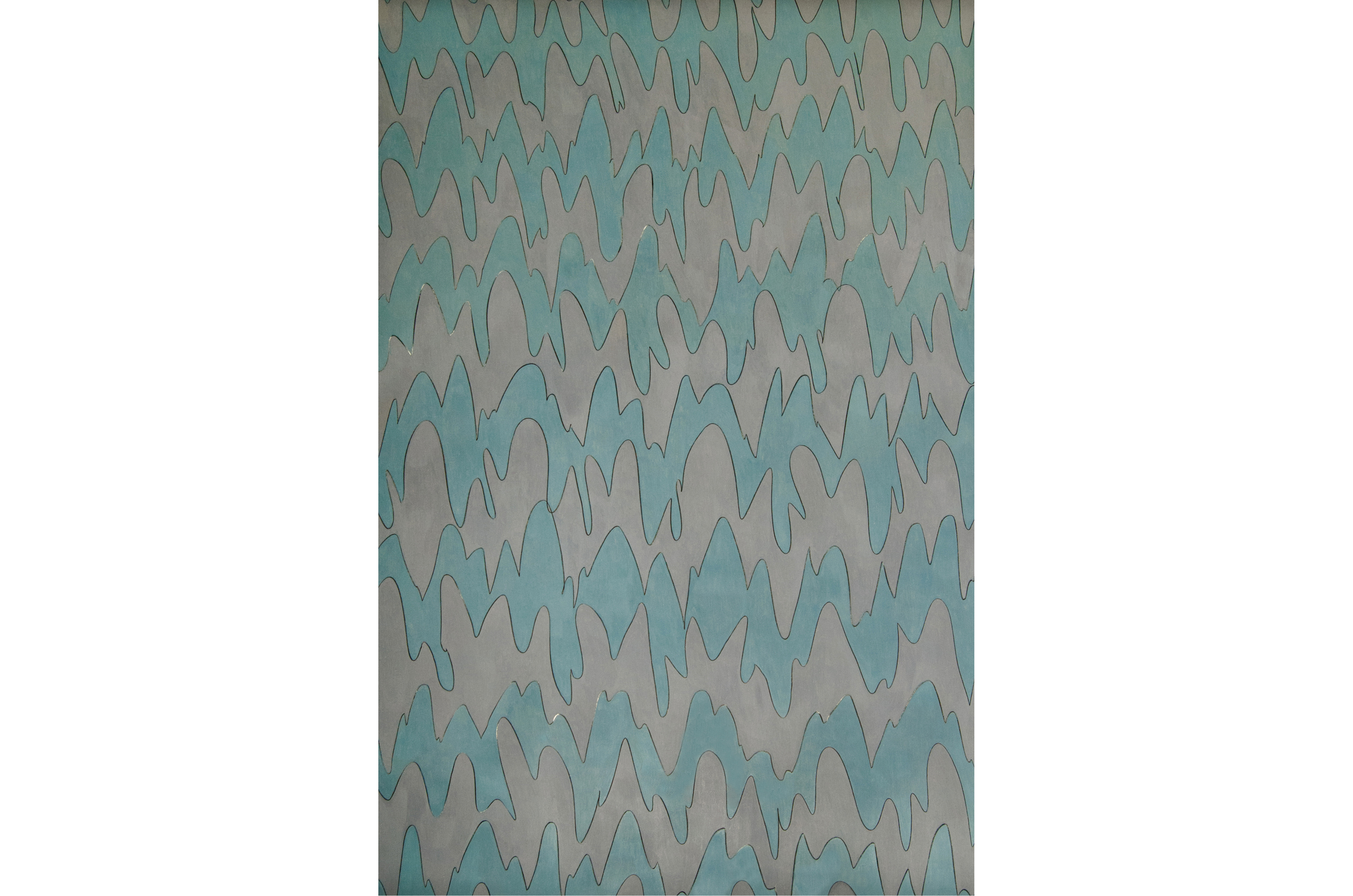 Standing Wave (50% Warm Gray, 70% Cool Gray), 2011, color pencil on paper, 58 x 40 in.