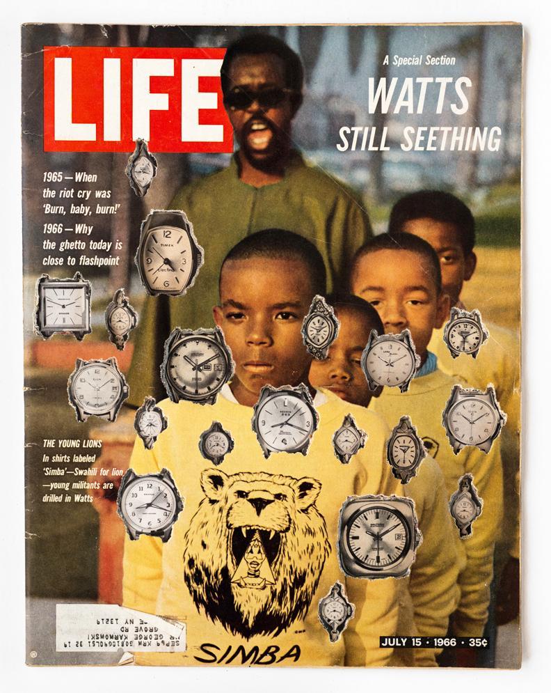 Dennis_Koch_LIFE_Cutout_No_036_July_15_1966_Watts_Clocks_2018_collage_CC.jpg