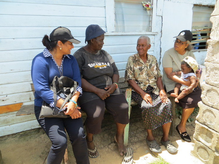 Mrs. Supriya Singh-Bodden and Guyana Foundation Volunteer, Ms. Sandra LaRose with Ms. Emelda.