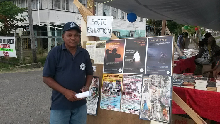 Rev. Kishun at the Photo Exhibition