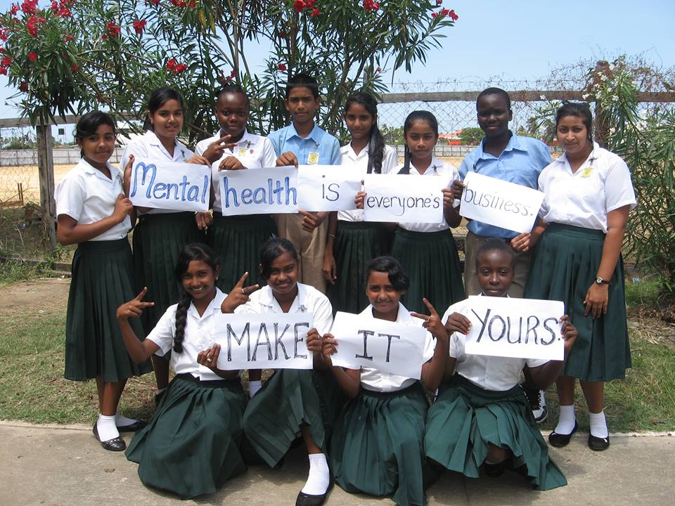 Students in Berbice raising awareness about mental health