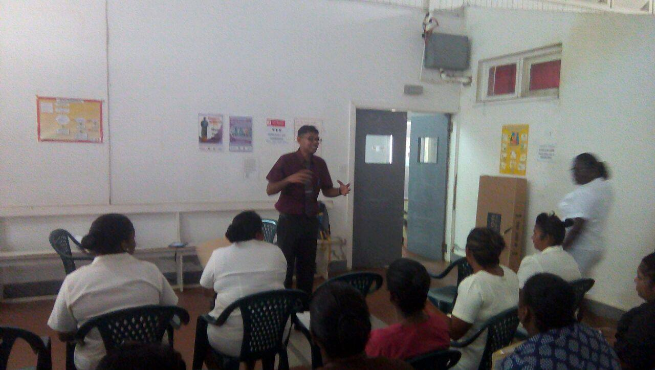 One of the Health Care Providers conducting a workshop session on Day 1, Monday 5th December.