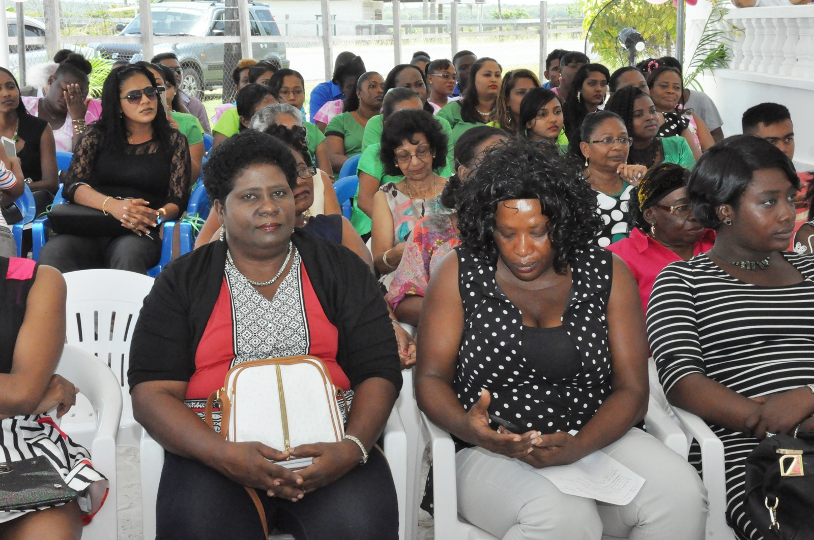 A section of the audience at the graduation ceremony.