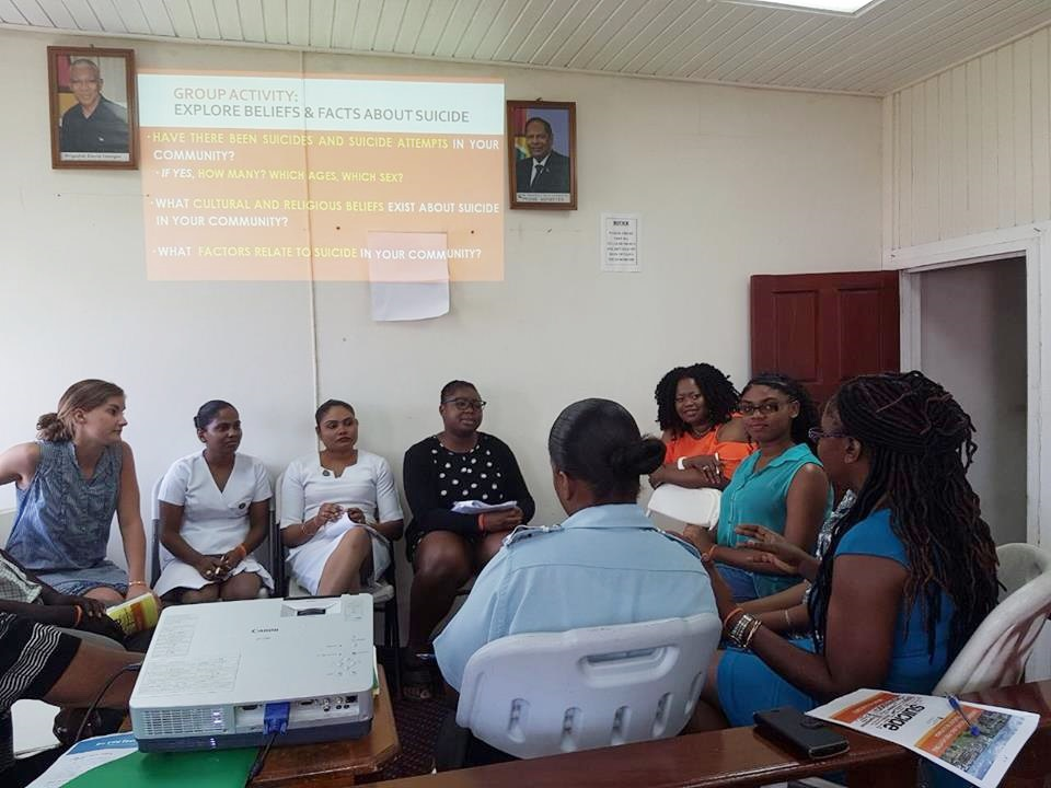 Some photos on the workshops on mental health/suicide/empowerment today, Wednesday 27th July 2017. ...many persons are benefitting from their expertise in this area, including members from the police force.
