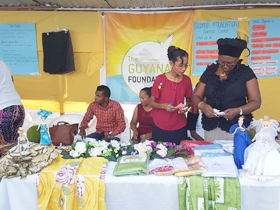 The Guyana Foundation represented its organisation with a booth at the Anna Regina Youth Fair and Pageant, September 2017