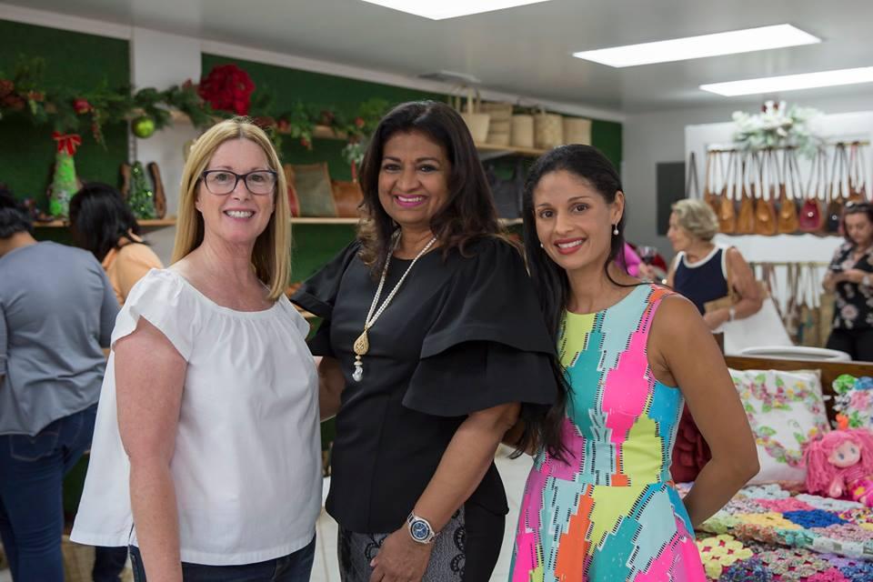 Mrs. Supriya Singh-Bodden (center).