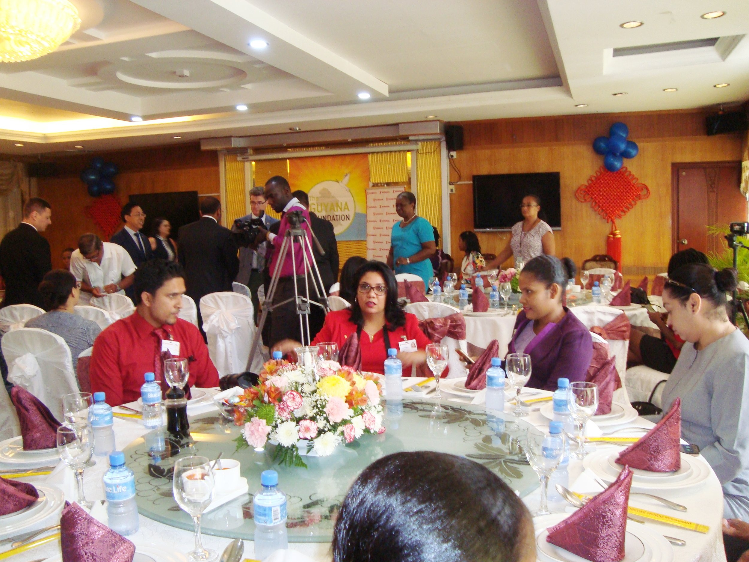 Press Conference/Luncheon: A section of the invitees to the event.