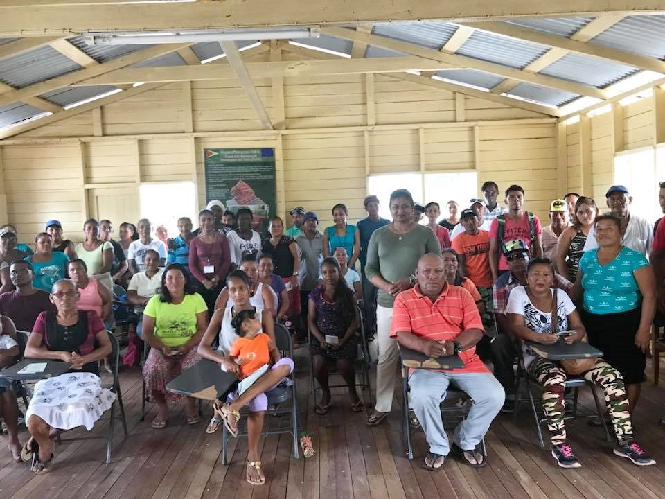Some of the residents of Mashabo who attended the meeting.