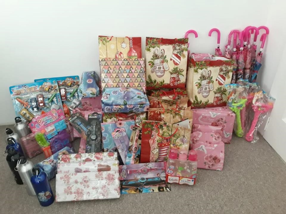 Some of the Christmas gifts that were presented to the children of Mashabo.