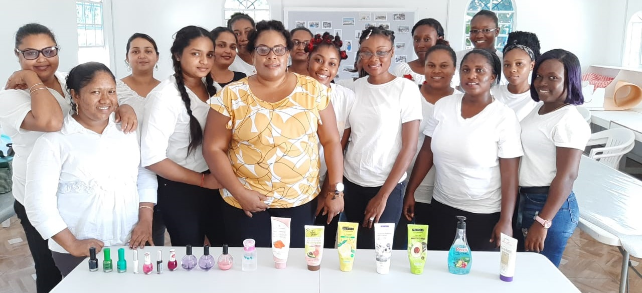 Cosmetology class at the Sunrise Center, 2019