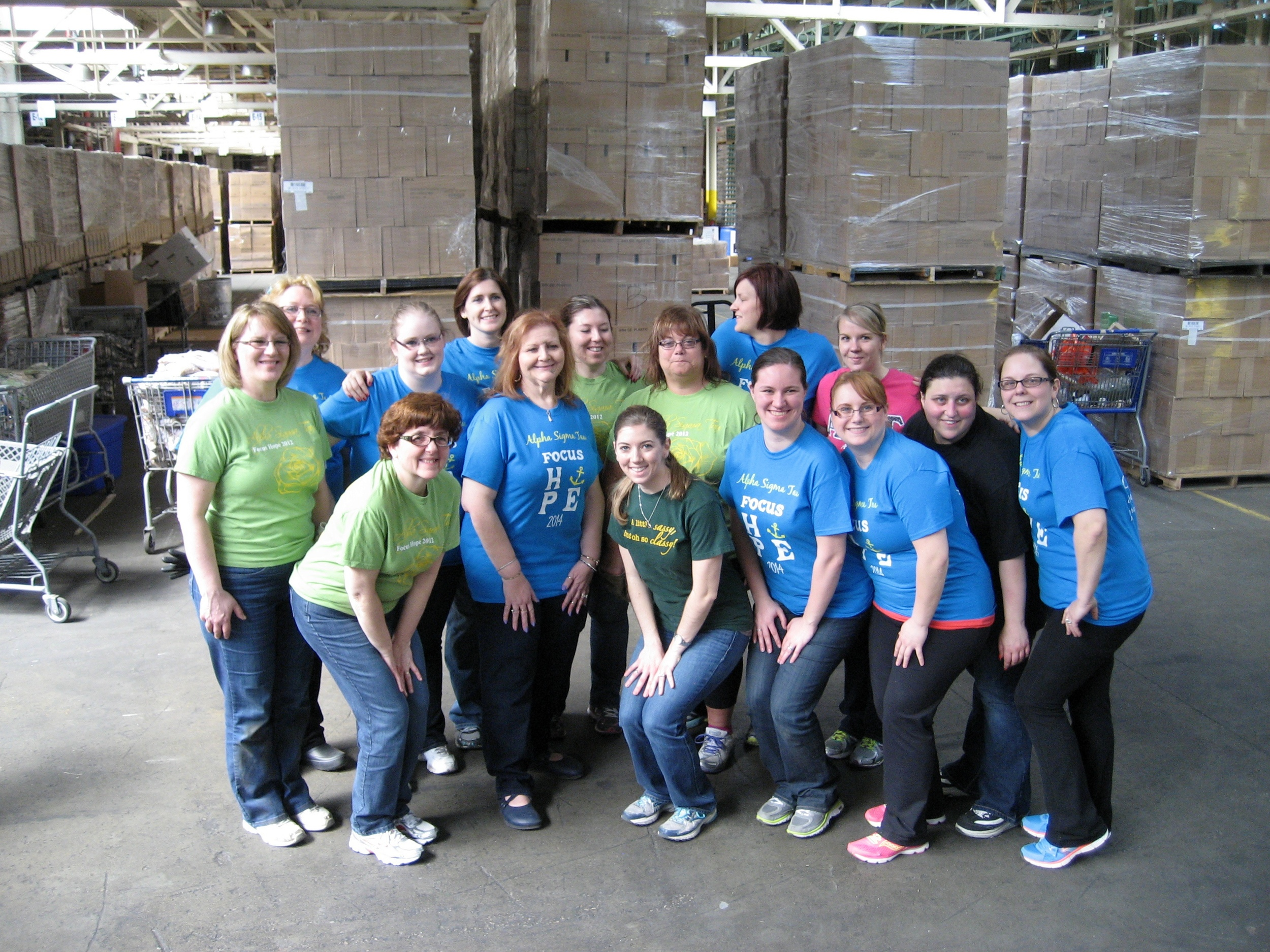 All the Detroit Metro alumnae who helped!