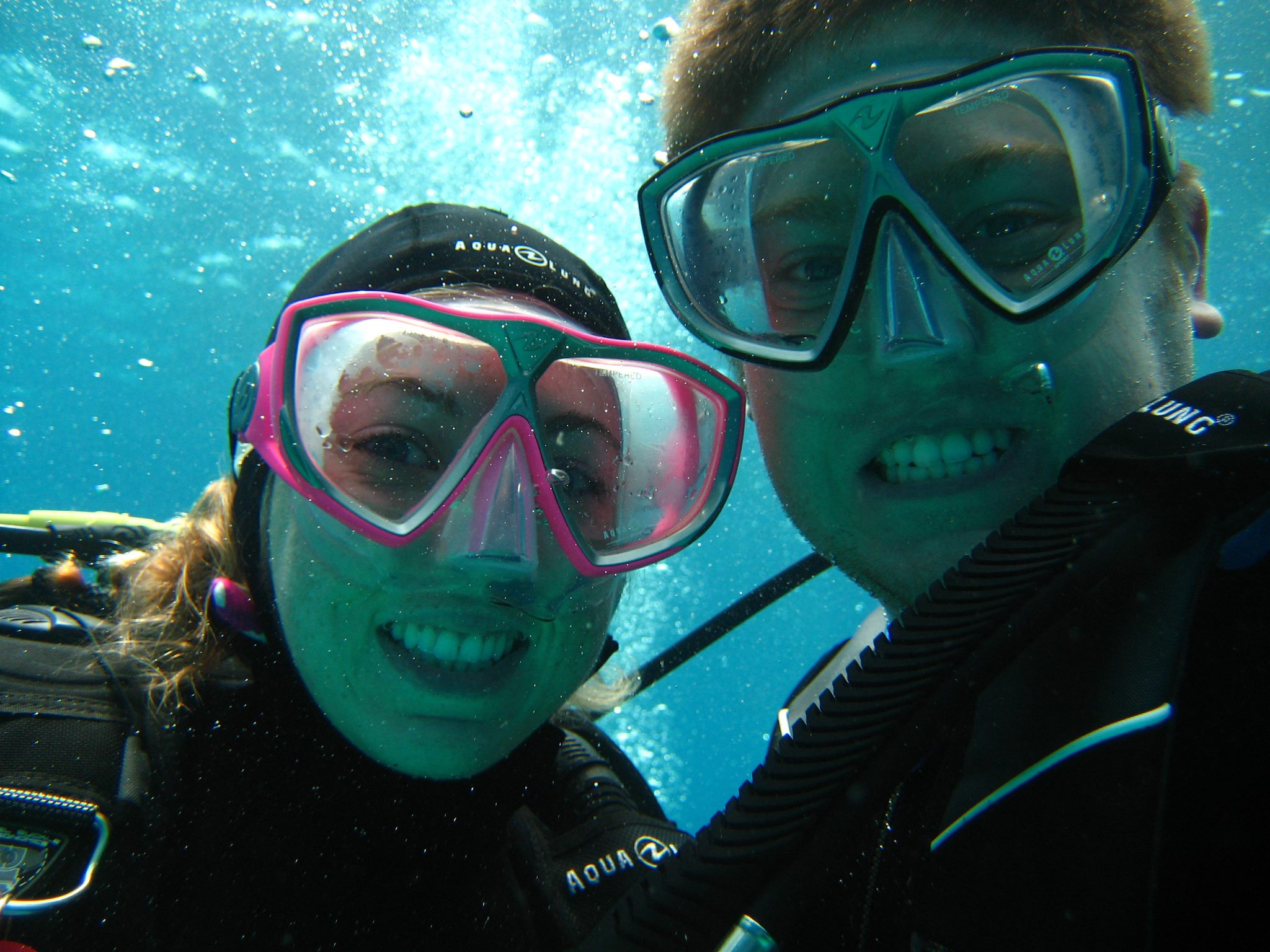 Some of our first dives out of Open Water in Roatan