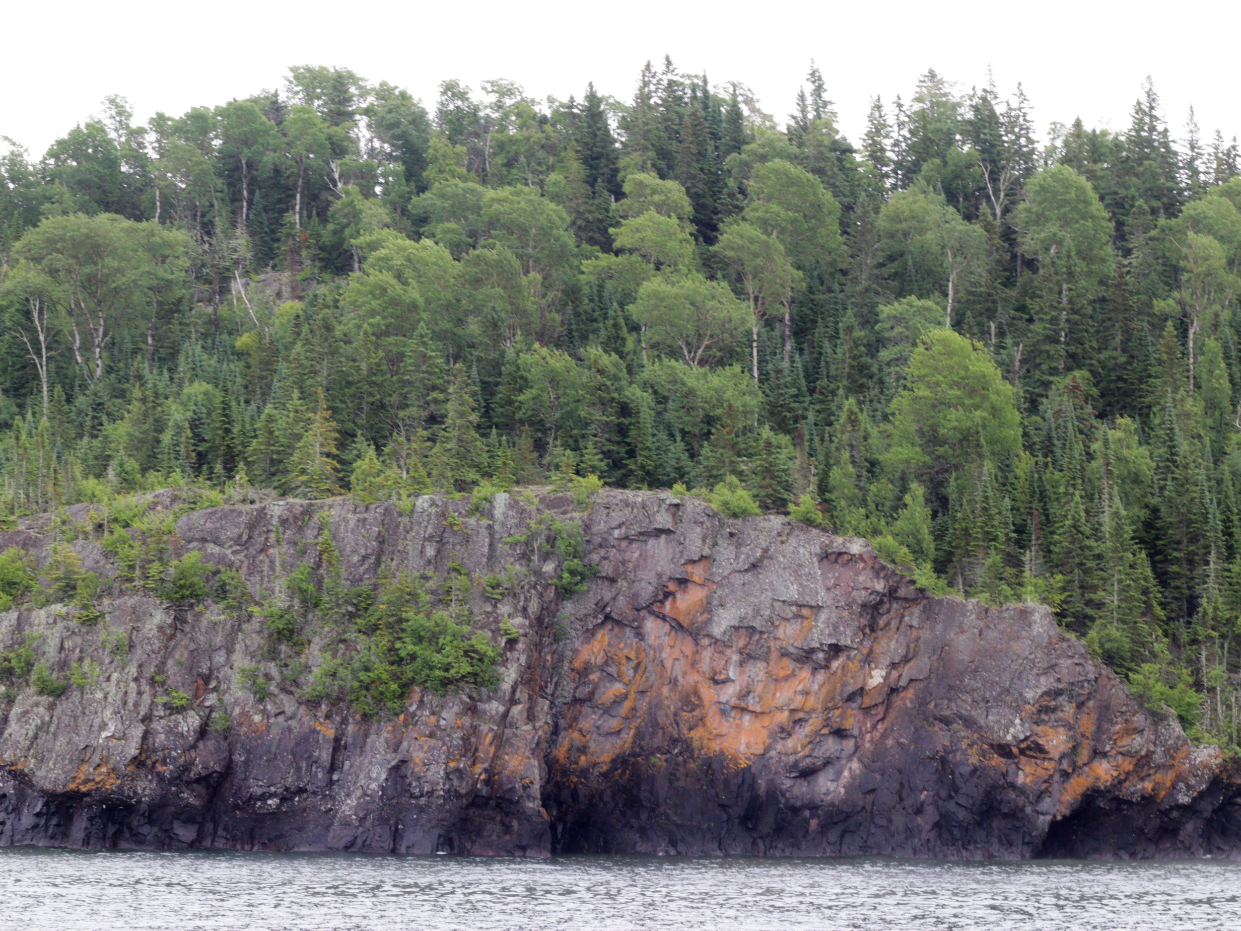 The cliffs that the Monarch crashed into. The crew of the Monarch climbed these cliffs to their safety.