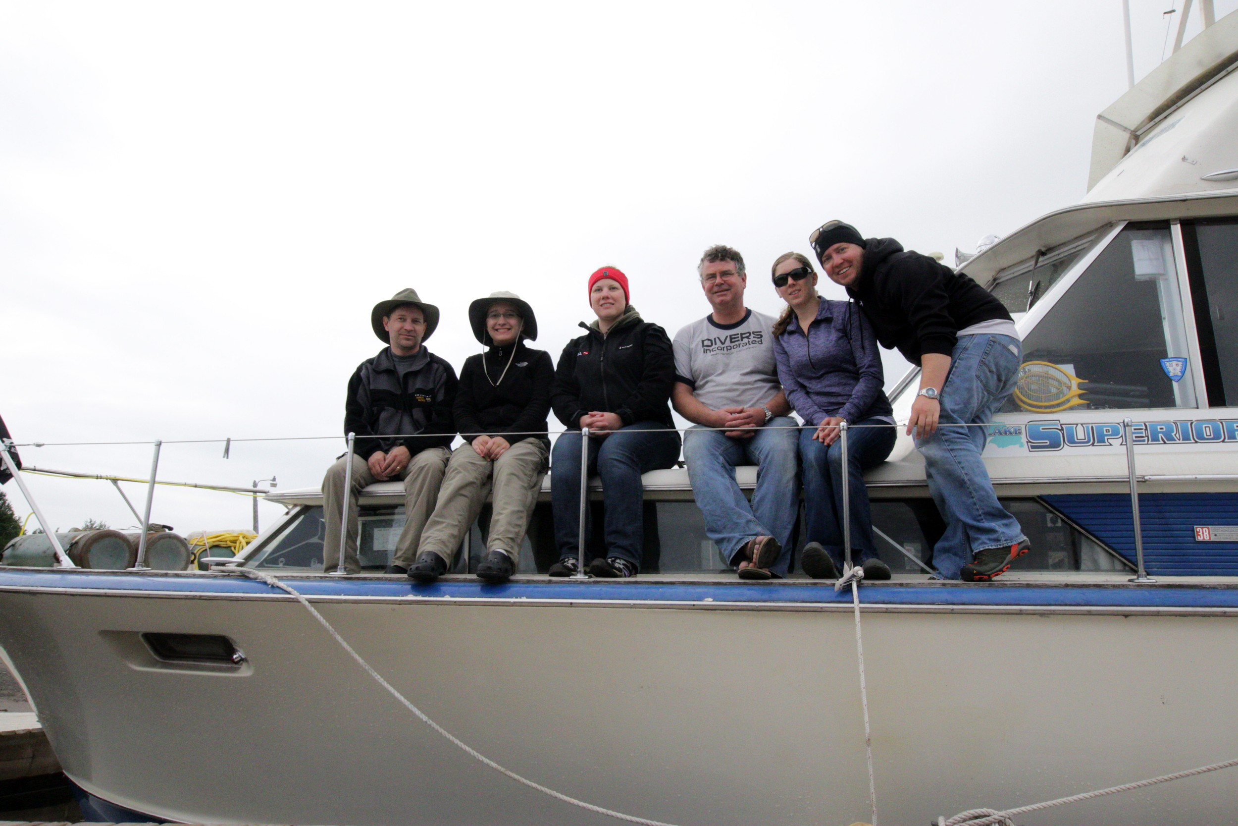 The whole group from the July 2014 Diver's Incorporated trip to Isle Royale.