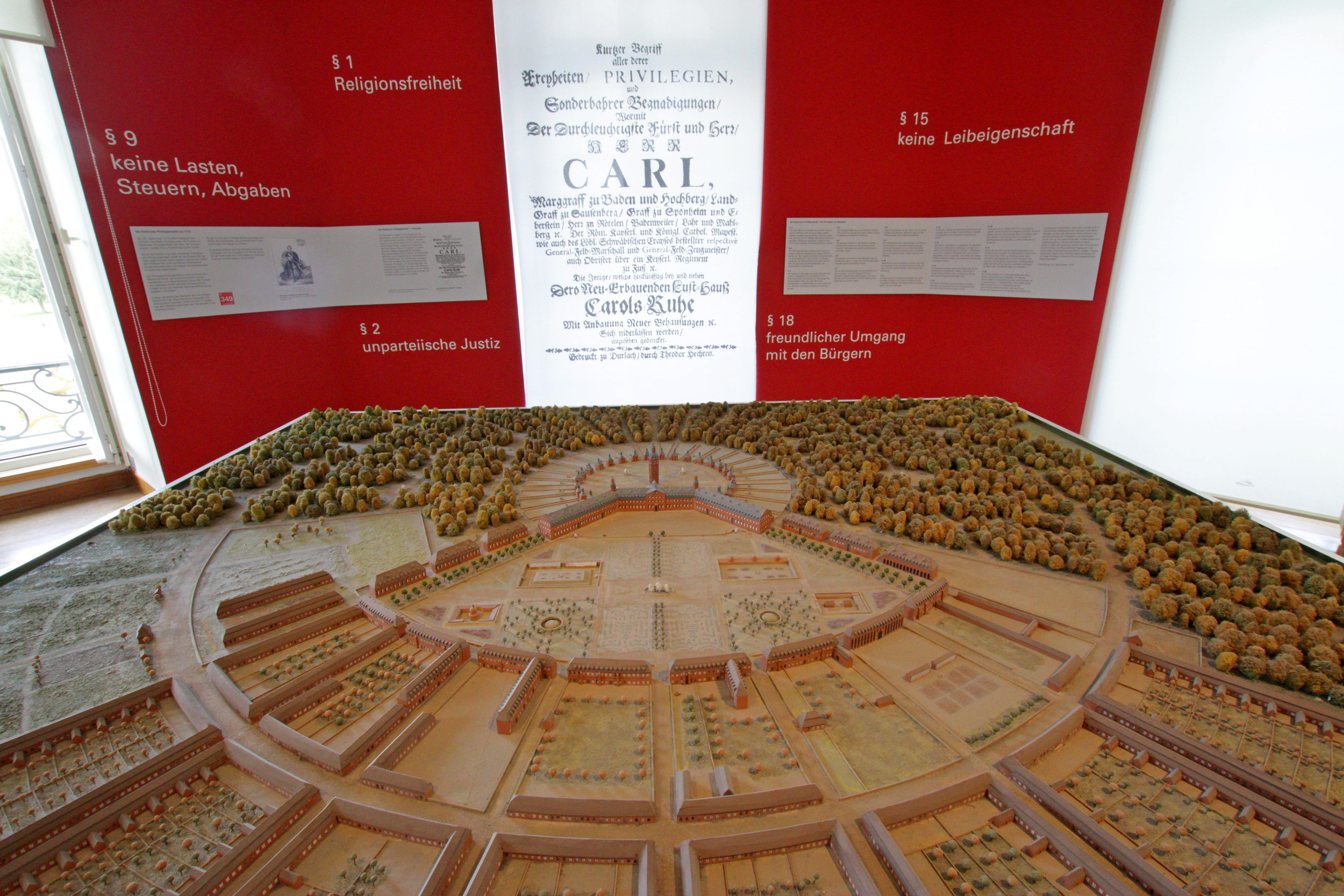 Scale model of the palace and gardens