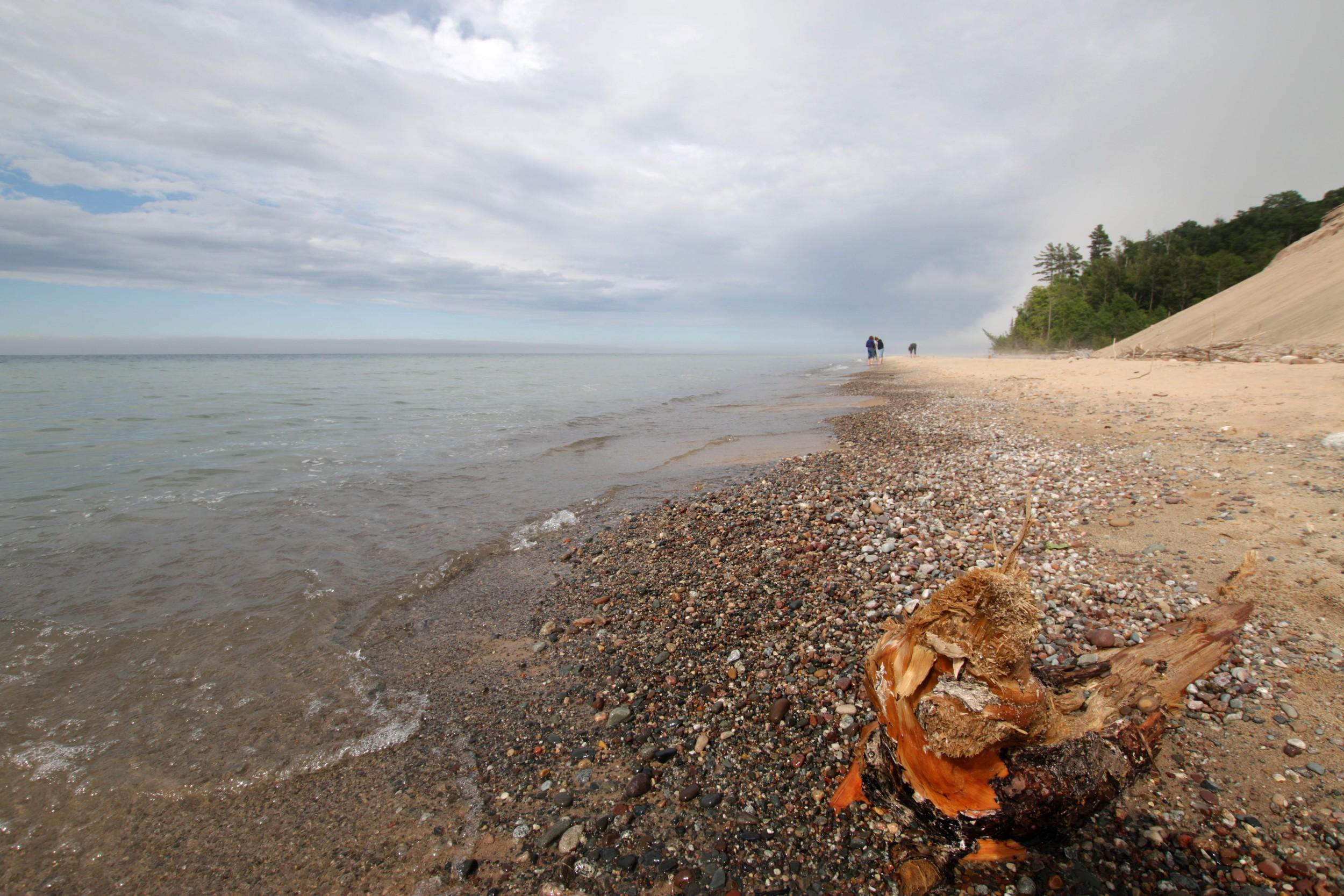 Beach- Pictured Rocks National Lakeshore, Grand Marais, MI - July 2014