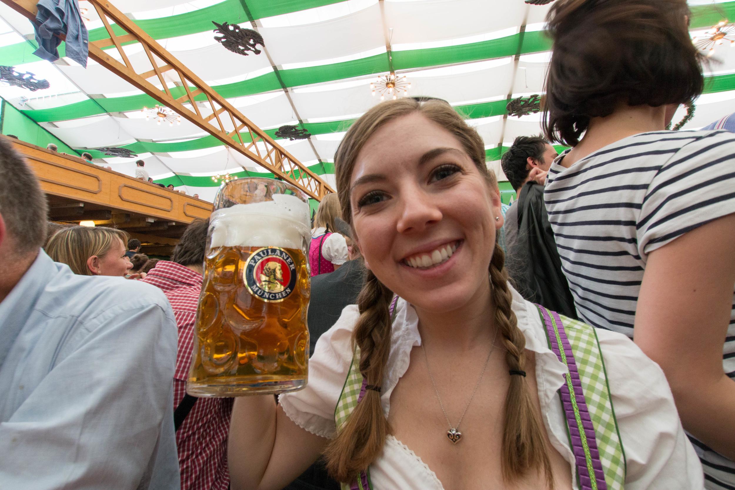 The beer is as big as my head!