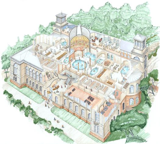 Plan of the Friederichsbad. Photo courtesy of  Carasana