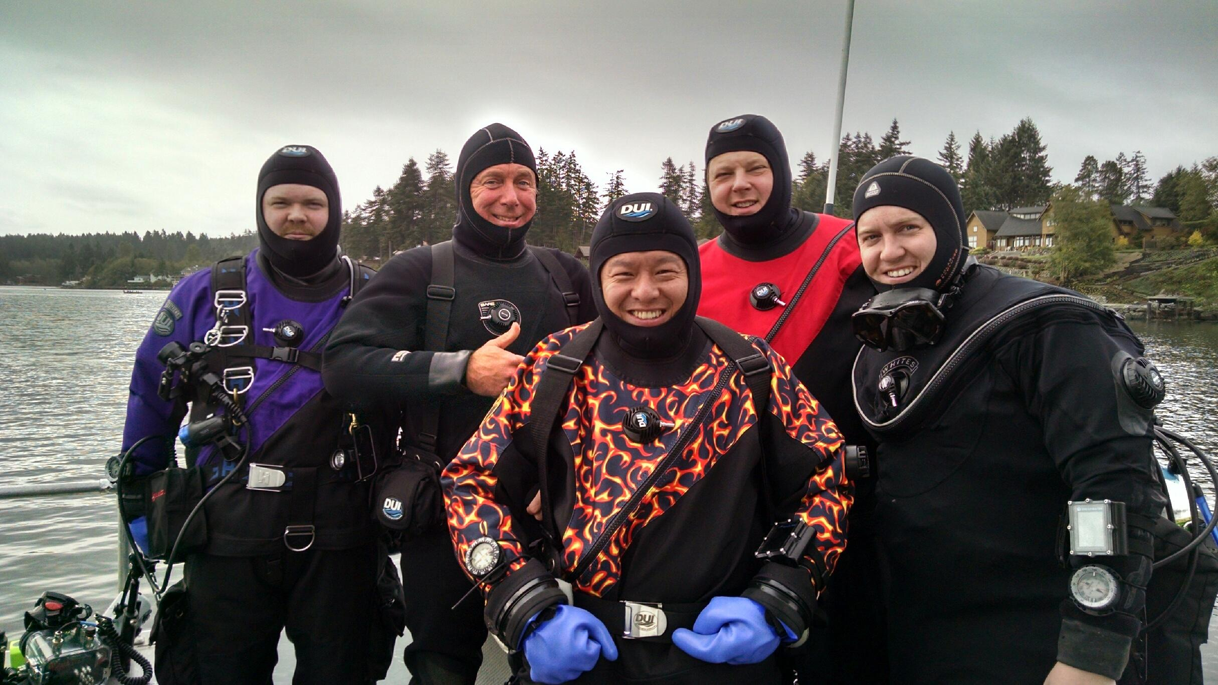 Our colorful group of divers for the day,