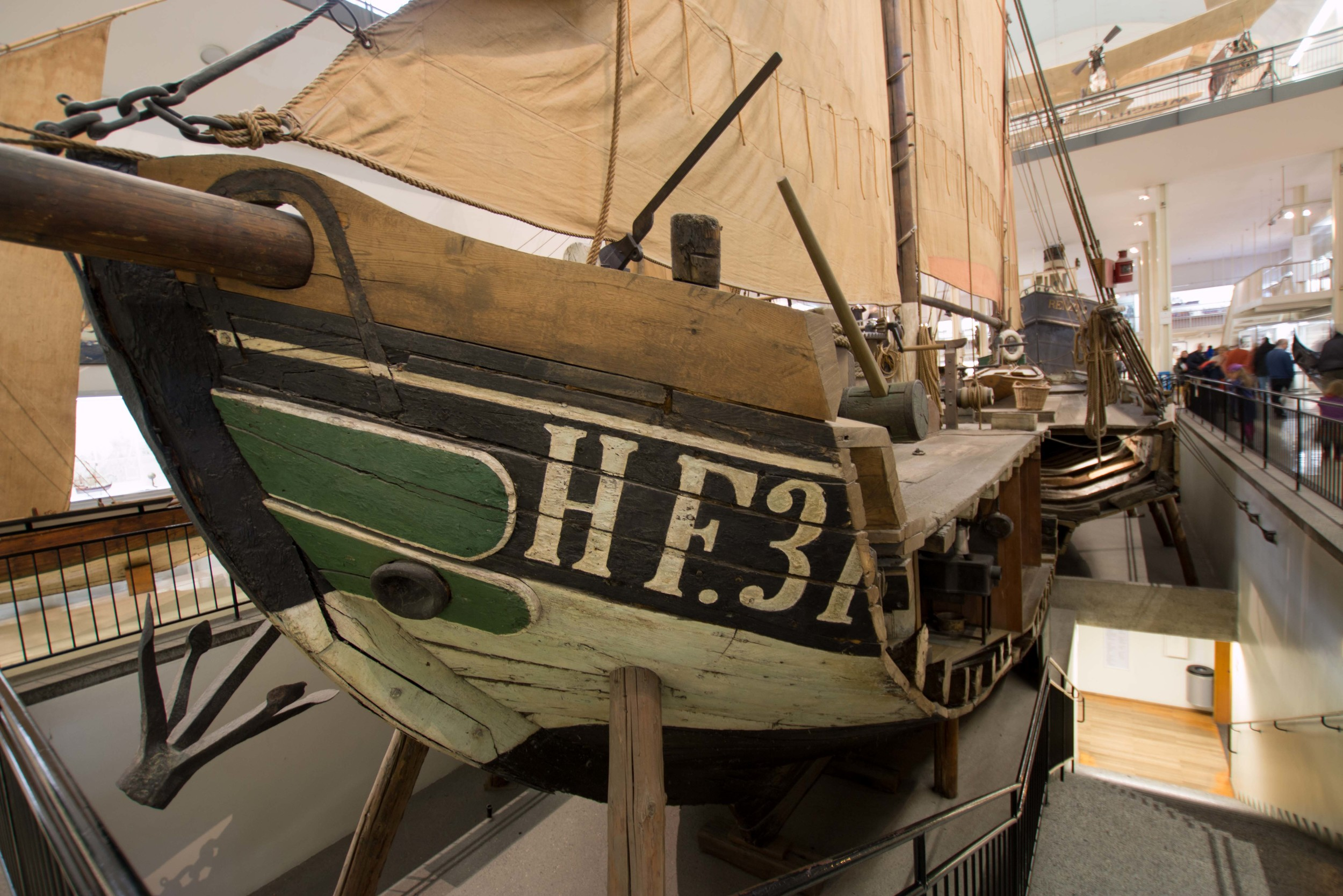 "Vessel ""Maria"" on ground floor of Deutsches Museum"