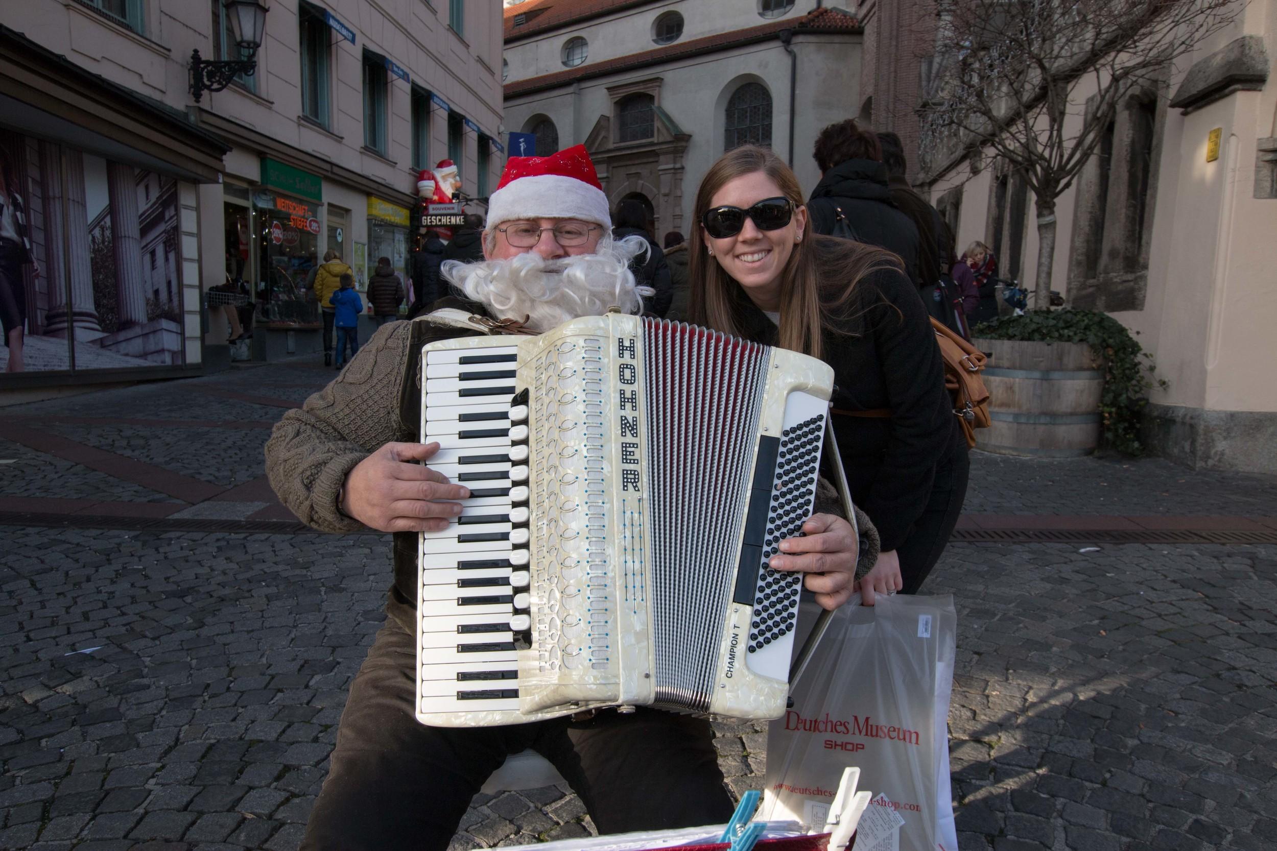 Meghan with Santa Claus