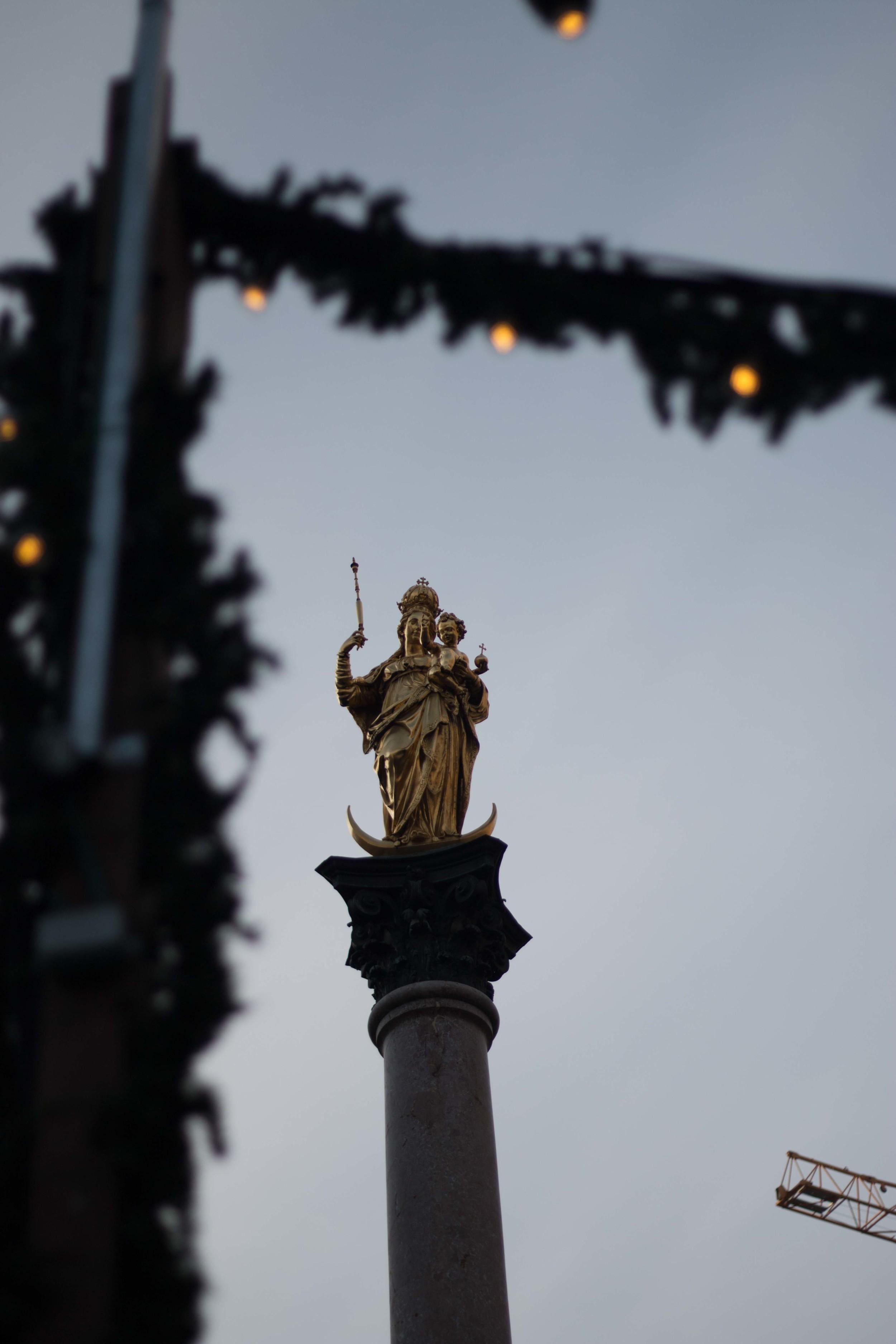 Virgin Mary in Munich Marienplatz
