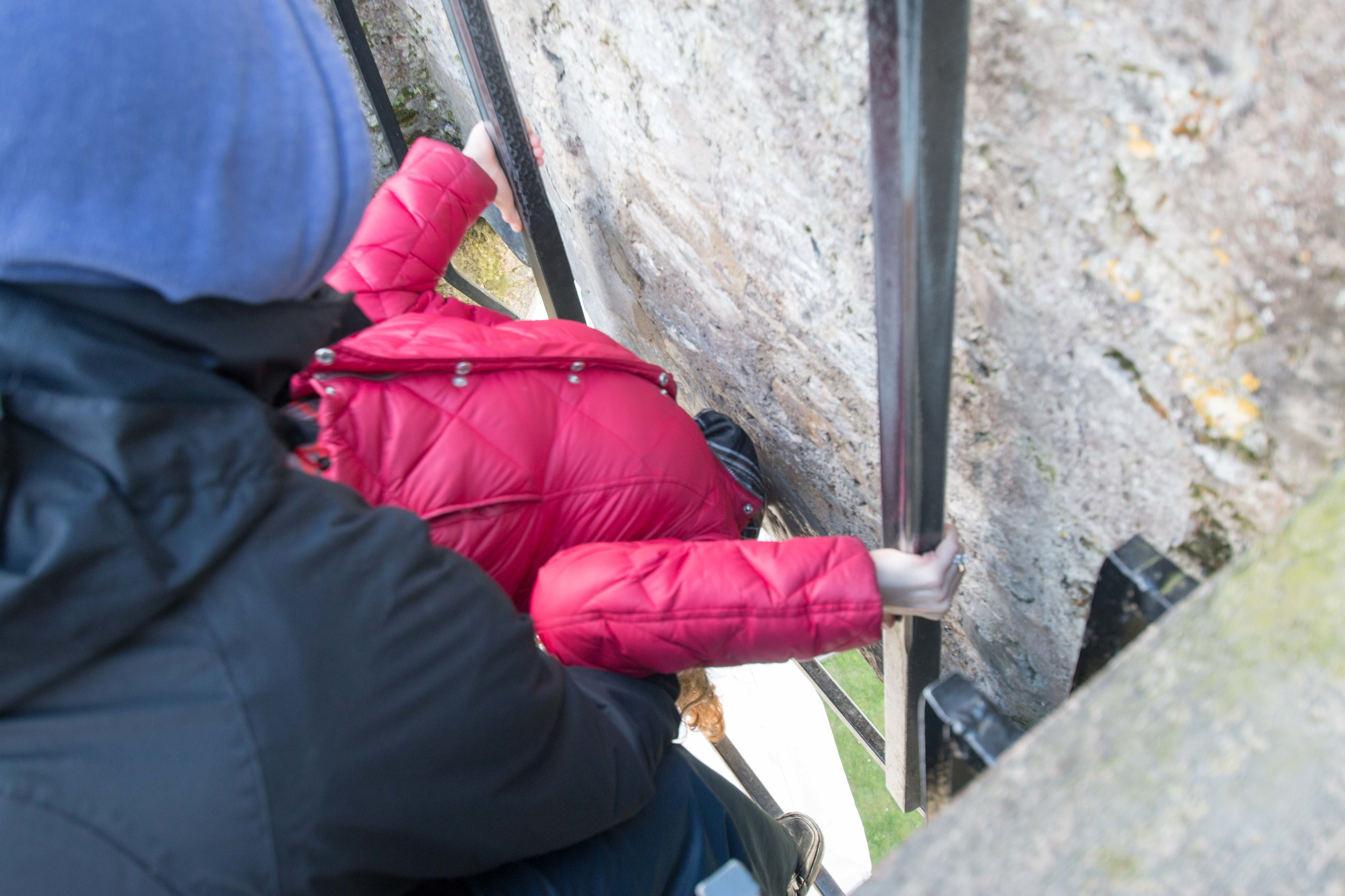 Kissing the Blarney Stone!