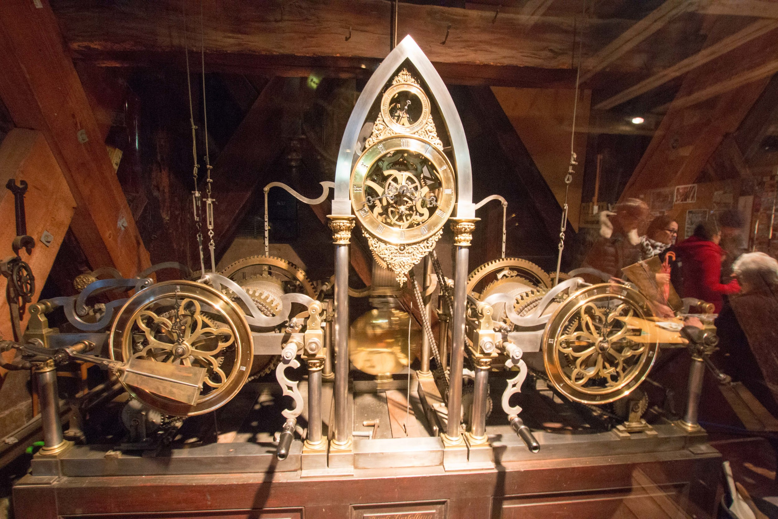 Clock mechanism that controlled the bells in the bell tower.