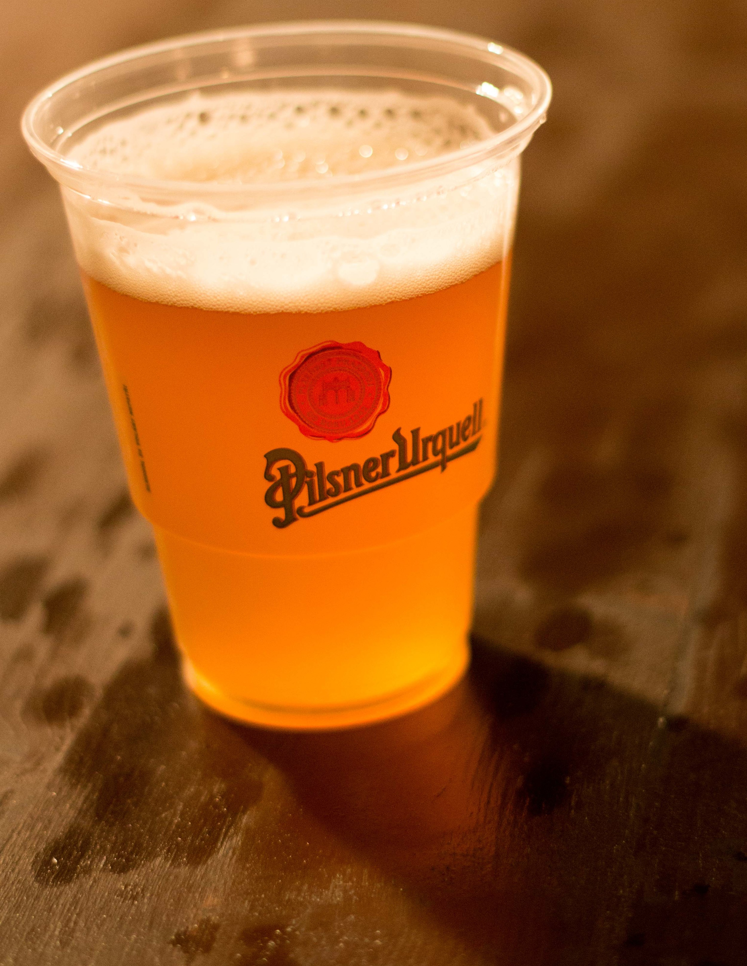 Our sample of open top fermented, unfiltered, unpasteurized Pilsner Urquell :)