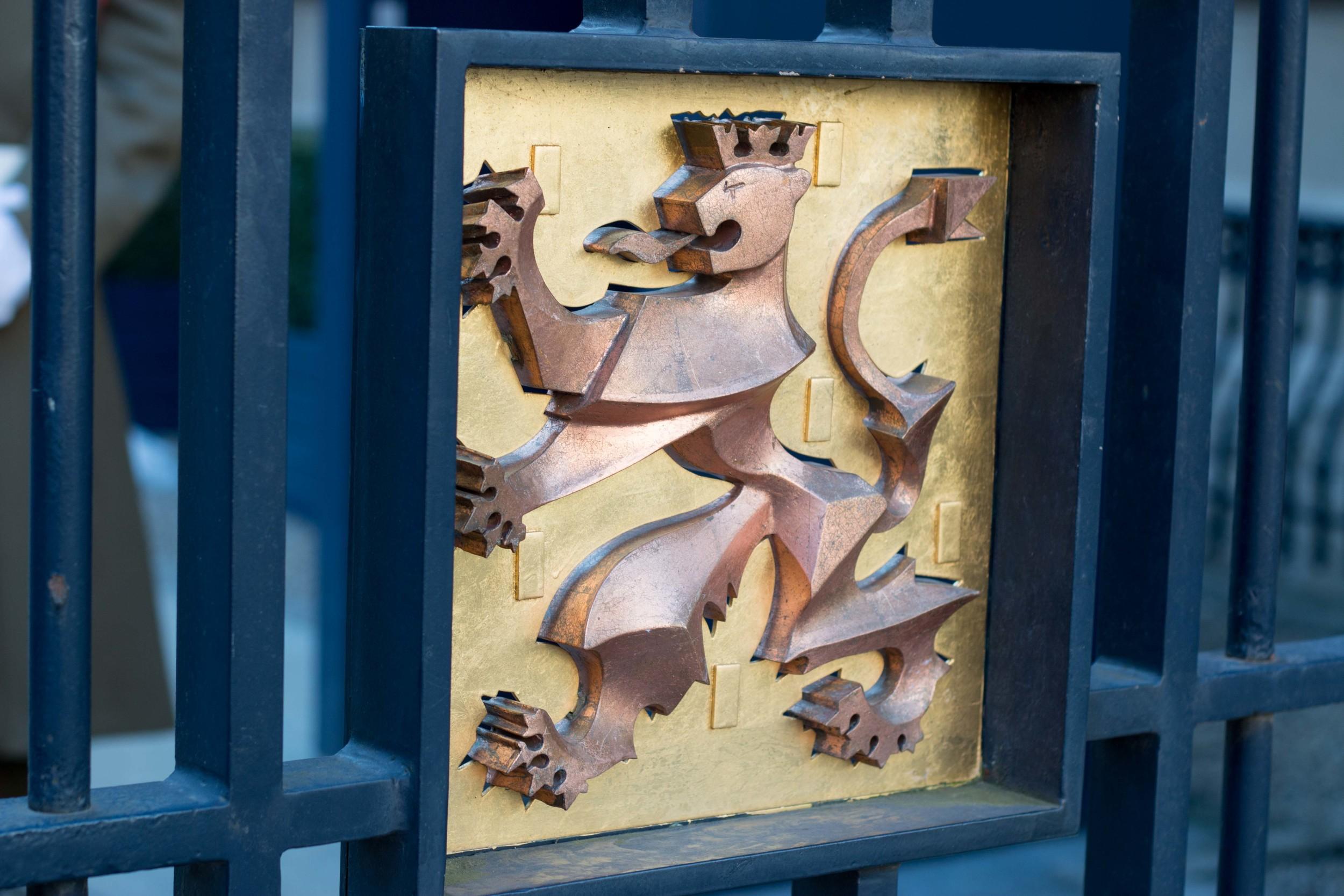 Grand Duchy Lion on the metal gates