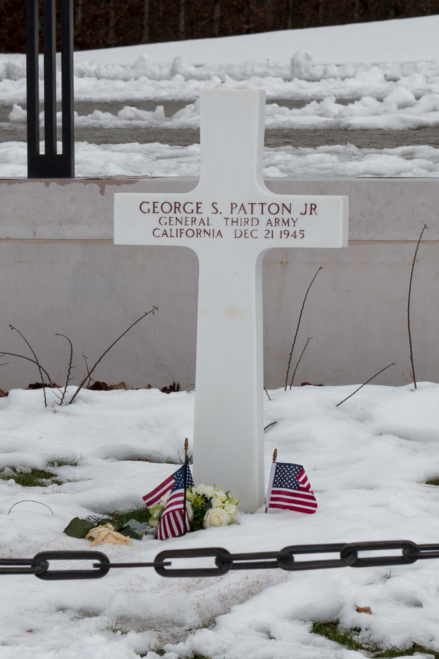 The headstone of General Patton