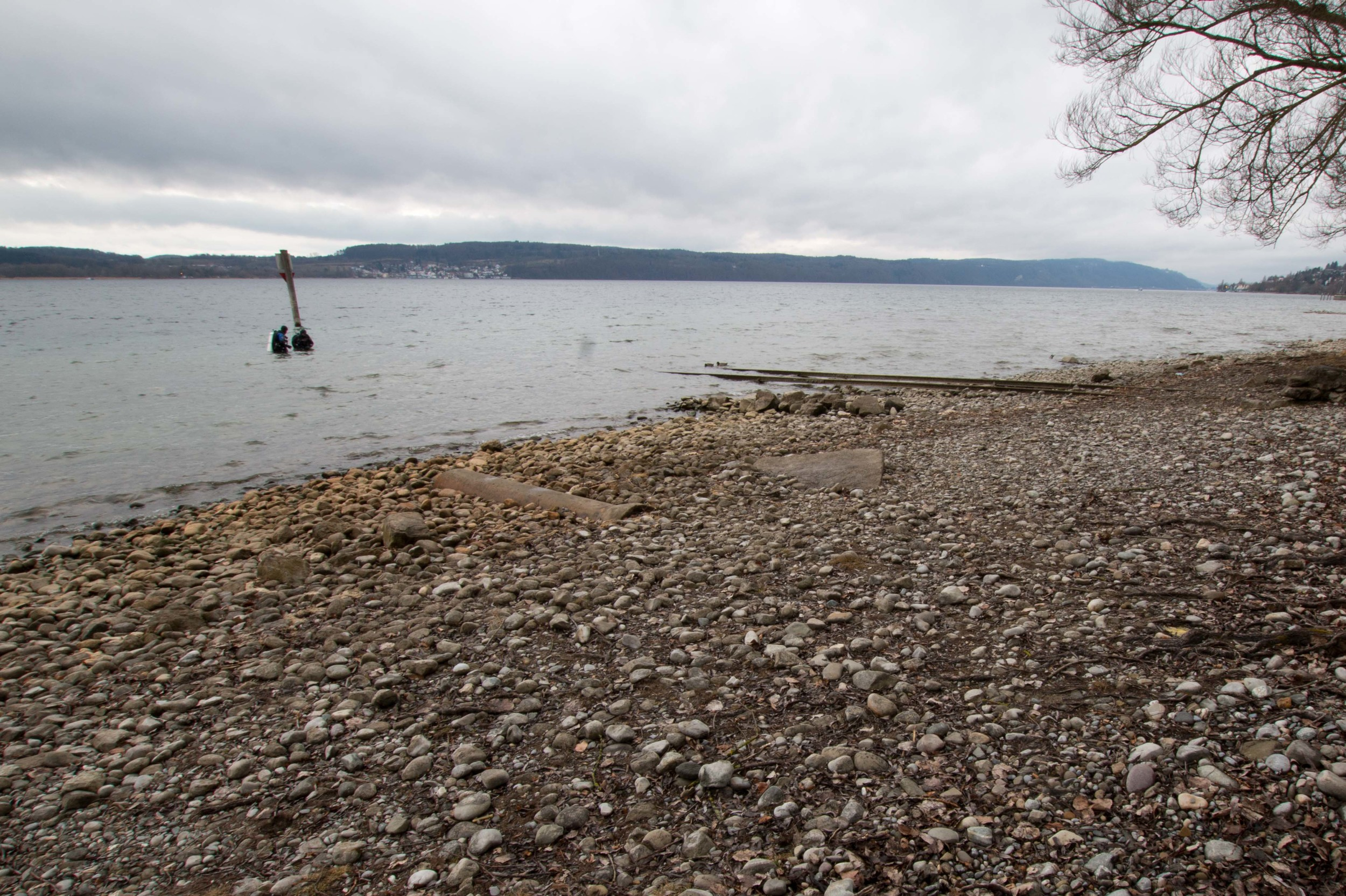 Tennisplätze dive site on the eastern side of Bodensee, not far from Überlingen